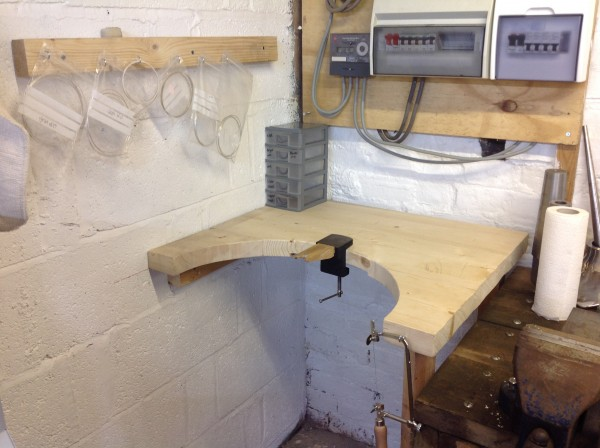 Silver smithing jewellery bench