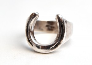 Individually handmade solid silver horseshoe ring a collaboration between www.lrsilverjewellery.co.uk and www.houseofneed.co.uk