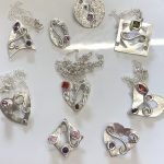 Stone setting in silver clay, cz fireable stones, deign silver jewellery, make silver jewellery, www.lrsilverjewellery.co.uk