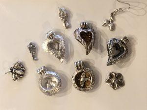 locket style bead, silver clay classes, www.lrsilverjewellery.co.uk